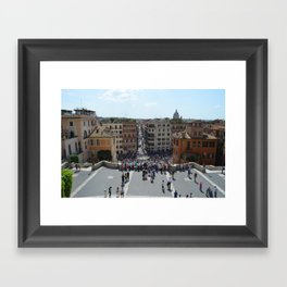 View from Spanish Steps, Rome, Italy Framed Art Print