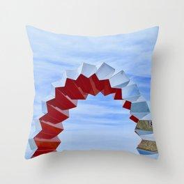 Sculptures'n'Sky Throw Pillow