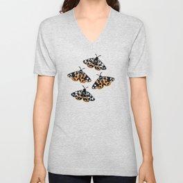 Tiger Moths Unisex V-Neck