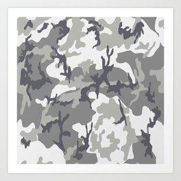 Urban camouflage Art Print
