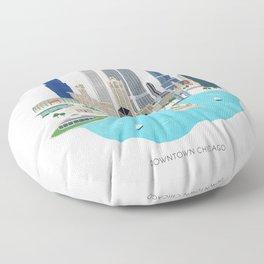 Chicago Illustration Floor Pillow