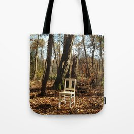 Just a chair in the Woods Tote Bag