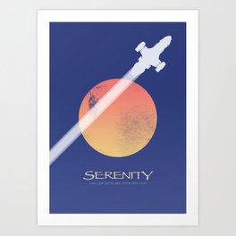 Serenity - Firefly ship Art Print