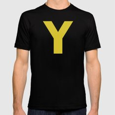 Y is for... MEDIUM Mens Fitted Tee Black