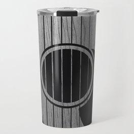 Strum... (White on Black) Travel Mug