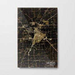 Las Vegas Nevada map year 1952, antique map, brown usa map Metal Print