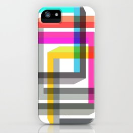 Colorful impossible 3D shapes overlapping. iPhone Case