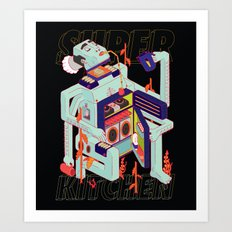 Super Kitchen 2 Art Print