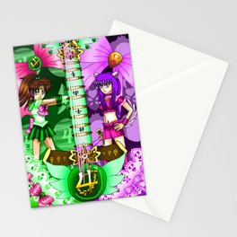 Sailor Mew Guitar #40 - Sailor Jupiter & Mew Zakuro Stationery Cards