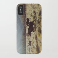 moose iPhone & iPod Cases featuring Three Meadow Moose by Kevin Russ