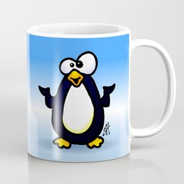 Pondering Penguin Coffee Mug