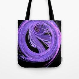 Purple-Lilac Swirling Fire Fractal Design Tote Bag