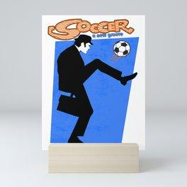 Soccer Fan Mini Art Print