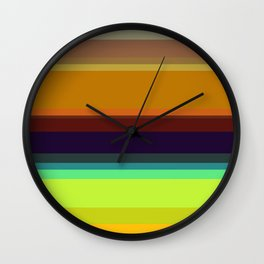Color stripes I Wall Clock