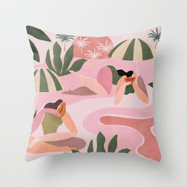 How I will spend the summer Throw Pillow
