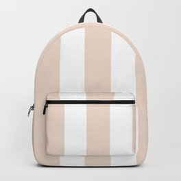 Champagne pink - solid color - white vertical lines pattern Backpack