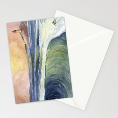 High Tide At Sunset Stationery Cards