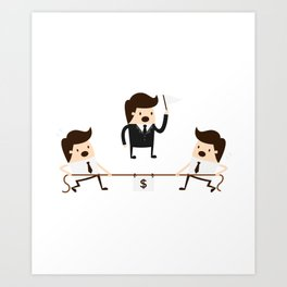 Employees Competing For A Raise Art Print