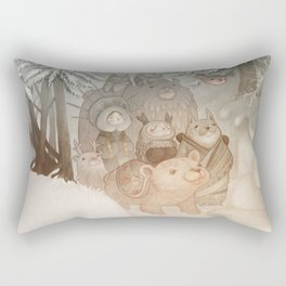 Magic snow Rectangular Pillow