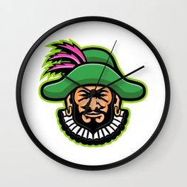 Minstrel Mascot Wall Clock