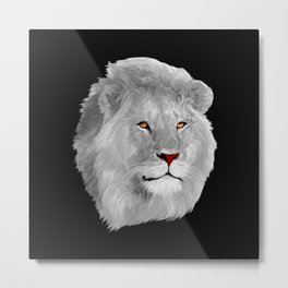 Albino LiON iPhone 4 4s 5 5c 6 7, pillow case, mugs and tshirt Metal Print