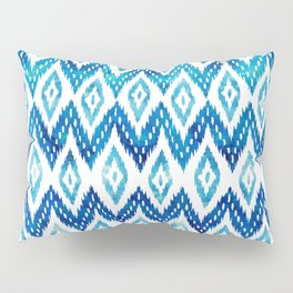 Watercolor Blues Pillow Sham