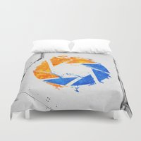 aperture Duvet Covers featuring Aperture Vandal by Toronto Sol