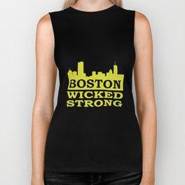 Boston Wicked Strong Marathon Boston Marathon Boston run Biker Tank