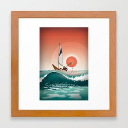 Sea Kayaking Framed Art Print