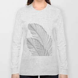 Palm Leaves Finesse Line Art #1 #minimal #decor #art #society6 Long Sleeve T-shirt