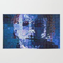 Chuck Close and Personal with Michael Meyers Rug