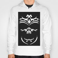 maori Hoodies featuring Maori skull black & white  by Soso Creation