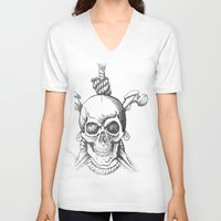 moscow V-neck T-shirts featuring Moscow Mule by Carl Christensen