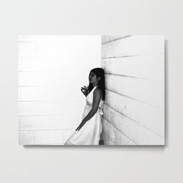 Lady in White (3 of 7) Metal Print