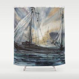 SHIPS Shower Curtain