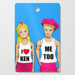I Love Ken! Me Too! Funny, Gay/Queer Pop Art Cutting Board