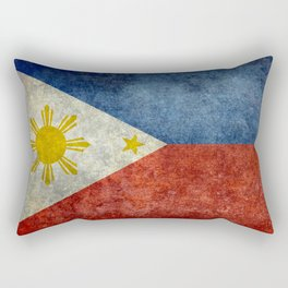 Republic of the Philippines national flag (50% of commission WILL go to help them recover) Rectangular Pillow