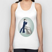 pride and prejudice Tank Tops featuring Fashion Illustration - Pride & Prejudice by BeckiBoos