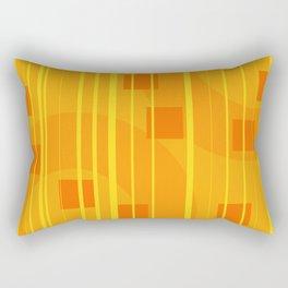 Stripes - Geometry Design Yellow Rectangular Pillow