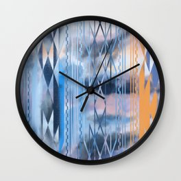 Blue Tribal No.2 Wall Clock