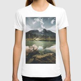 moody morning Scenery at Hintersee Lake T-shirt