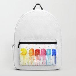 Retro Rainbow Geek Video Game Art Backpack