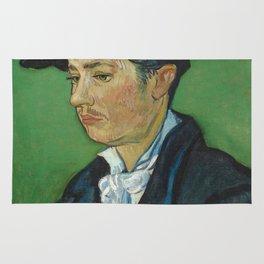 Portrait of Armand Roulin by Vincent van Gogh Rug