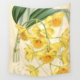 Dendrobium chrysotoxum Wall Tapestry