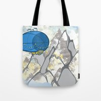 led zeppelin Tote Bags featuring Zeppelin by elambonebright