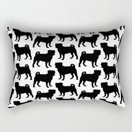Simple Pug Silhouette Rectangular Pillow