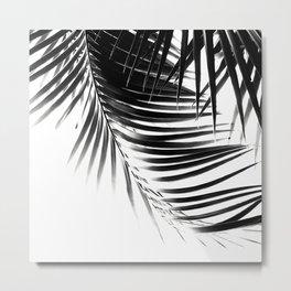 Palm Leaves Black & White Vibes #1 #tropical #decor #art #society6 Metal Print