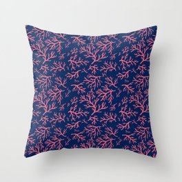 Flotsam Coral Throw Pillow