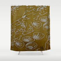shells Shower Curtains featuring Shells by ANoelleJay