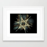 pentagram Framed Art Prints featuring Pentagram by JanUFotO